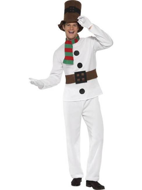 "Mr Snowman Costume, Chest 42""-44"", Leg Inseam 33"""