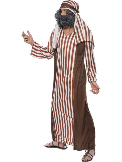 "Shepherd Costume, Brown and White, Chest 38""-40"", Leg Inseam 32.75"""