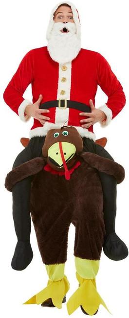 Piggyback Turkey Costume, Mens Fancy Dress, One Size