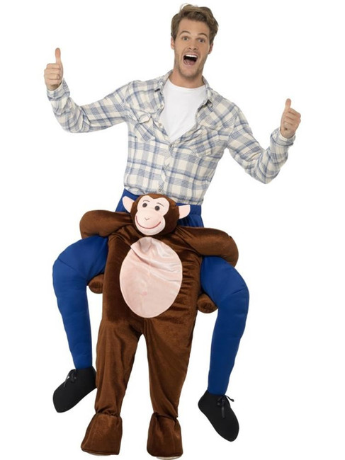 Brown Piggyback Monkey Costume, Funnyside Fancy Dress. One Size