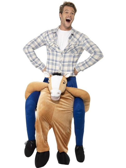 Brown Piggyback Horse Costume, Funnyside Fancy Dress. One Size
