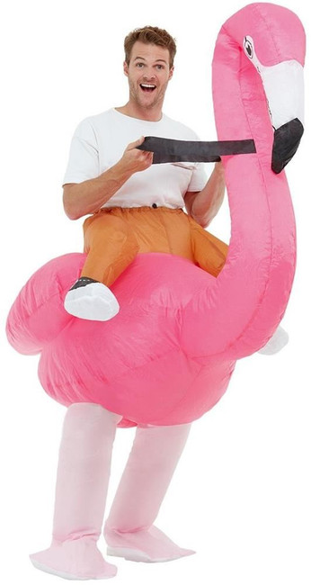 Inflatable Ride Em Flamingo Costume, Adult Unisex Fancy Dress, One Size