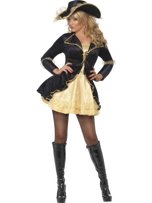 Fever Swashbuckler Costume, UK Dress 8-10