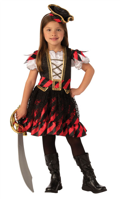 Pirate - Large, Girls Fancy Dress Costume