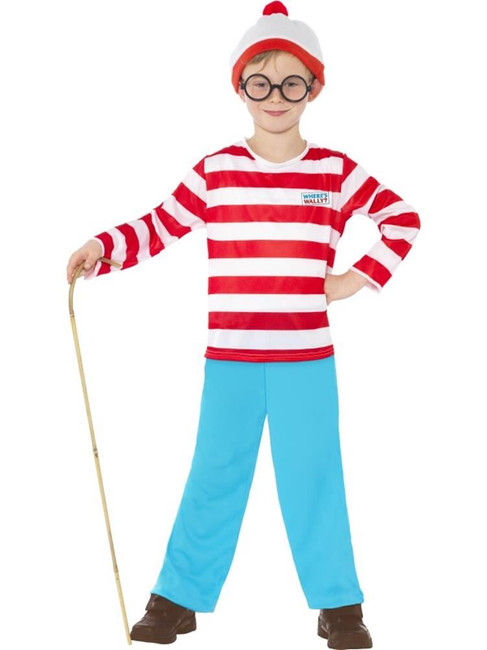Where's Wally? Costume, Where's Wally Licensed Fancy Dress. Tween 12+