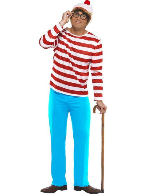 "Where's Wally? Costume, Chest 42""-44"", Leg Inseam 33"""