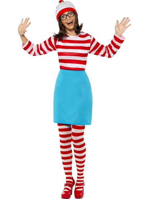 Where's Wally? Wenda Costume, UK Dress 4-6