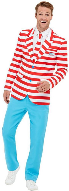Where's Wally? Suit, Mens Fancy Dress, XL