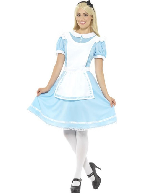 Wonder Princess Costume, Alice in Wonderland Fancy Dress. UK Size 4-6