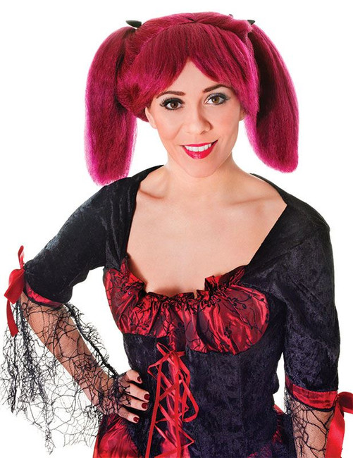 Steampunk. Burgundy Wig