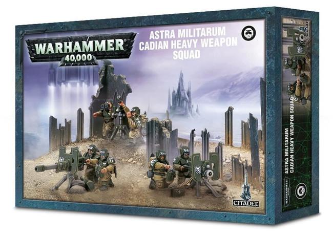 Astra Militarum Cadian Heavy Weapon Squad, 3 Citadel Bases, Warhammer 40,000