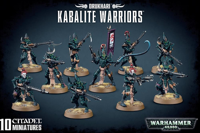 Drukhari Kabalite Warriors, Warhammer 40,000, Games Workshop