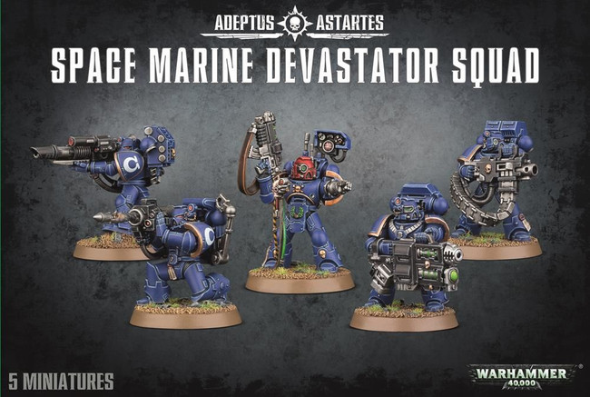 Space Marine Devastator Squad, Warhammer 40,000, 40k, Games Workshop