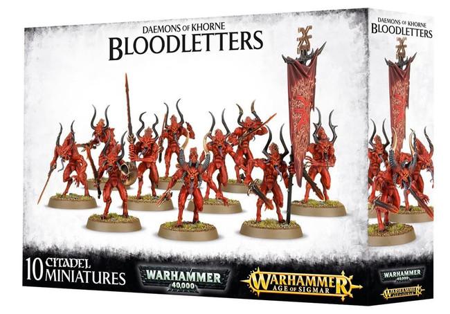 Daemons Of Khorne Bloodletters, Warhammer 40,000 Age of Sigmar, 40k
