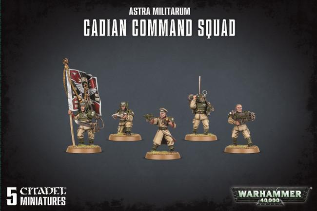 Astra Militarum Cadian Command Squad, 5 Citadel Minatures, Warhammer 40,000