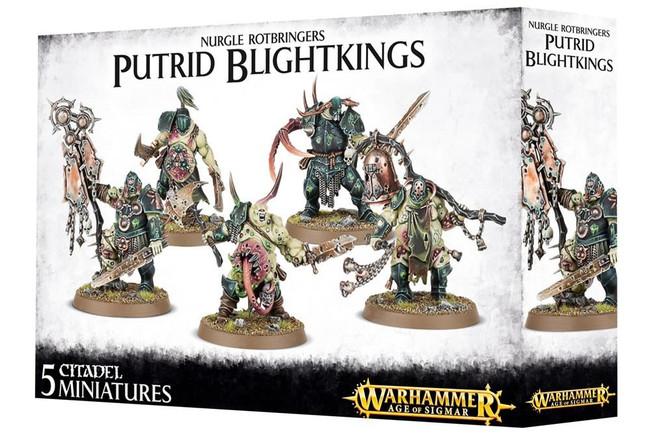 Nurgle Rotbringers Putrid Blightkings, Warhammer 40,000 Age of Sigmar, 40k
