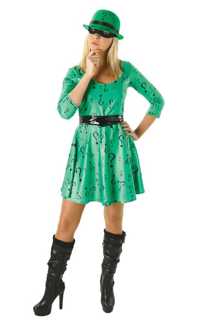 Female Riddler Costume, Fancy Dress, Small, UK Size