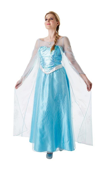 Adult Elsa Costume, Fancy Dress, Small, UK Size