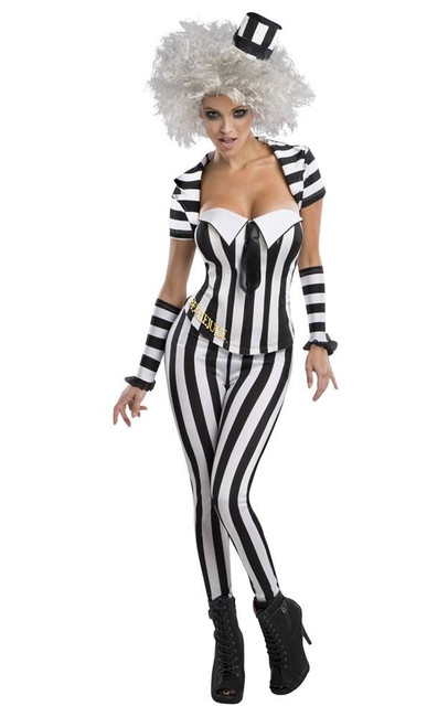 Beetlejuice Costume, Fancy Dress, Small, US Size