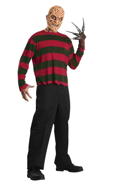 Freddy Krueger Costume, Fancy Dress, XL, US Size