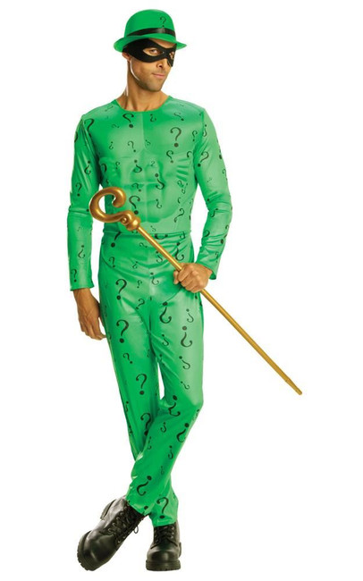 Classic Riddler Costume, Fancy Dress, STD, UK Size