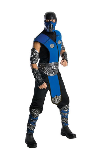 Mortal Kombat, Subzero (adult) Costume, Fancy Dress, STD, US Size