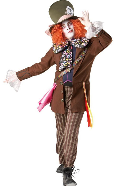 Alice in Wonderland, Mad Hatter (adult) Costume, Fancy Dress, XL, UK Size