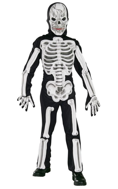 Eva Skeleton Costume, Fancy Dress, Large, US Size, Childrens