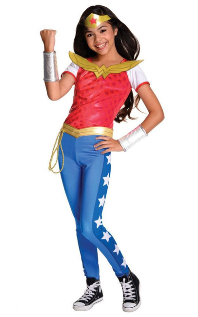 Wonder Woman Deluxe Costume, Fancy Dress, Medium, US Size, Childrens