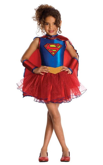 Supergirl Costume, Fancy Dress, Small, US Size, Childrens