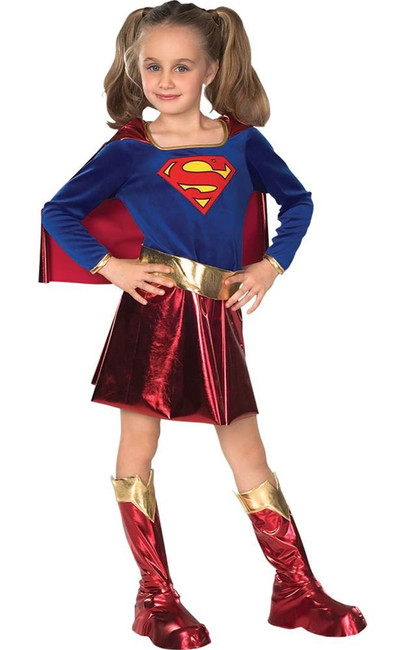 Supergirl (child) deluxe Costume, Fancy Dress, Large, US Size, Childrens