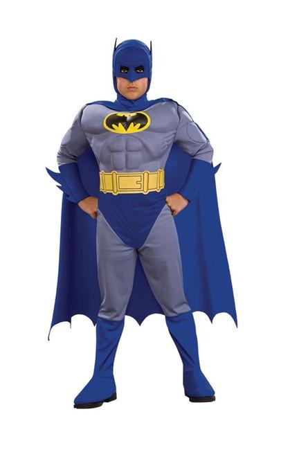 Deluxe Muscle Chest Batman Costume, Fancy Dress, Medium, US Size, Childrens