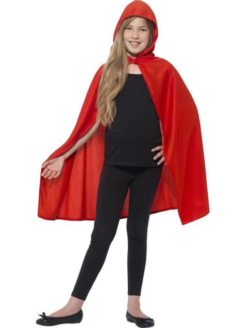 Hooded Cape, Small/Medium Age 4-7, Halloween Fancy Dress, Girls