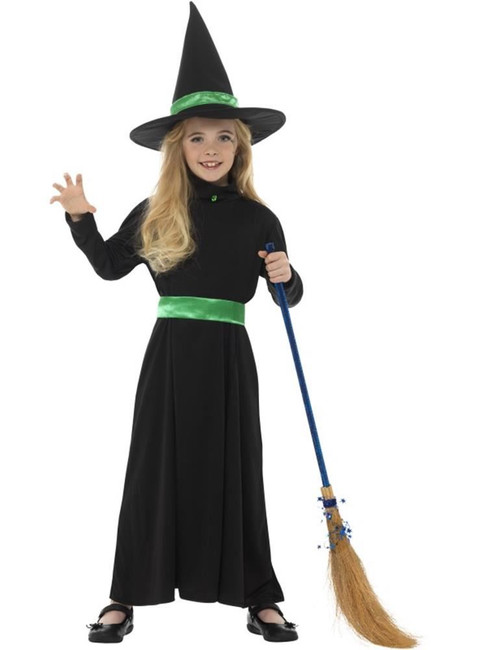 Wicked Witch Costume, Halloween Children's Fancy Dress. Large Age 10-12