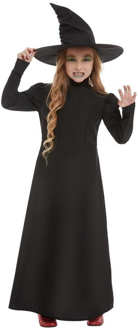 Wicked Witch Girl Costume, Girls Fancy Dress, Large Age 10-12