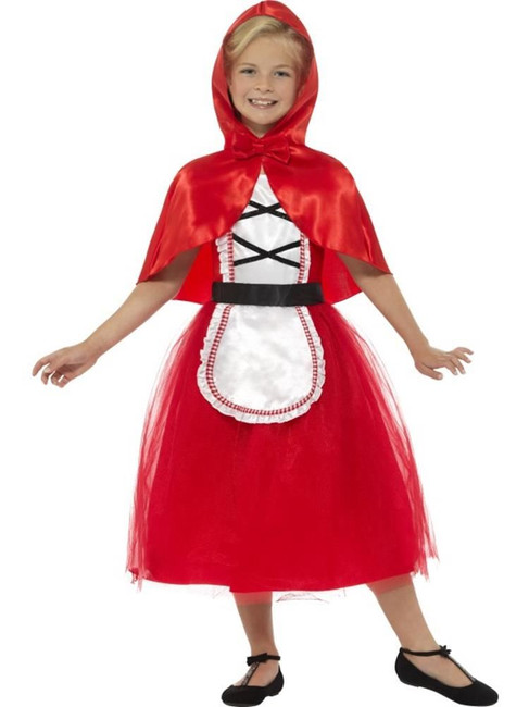Deluxe Red Riding Hood Costume, Girls Fancy Dress. Medium Age 7-9