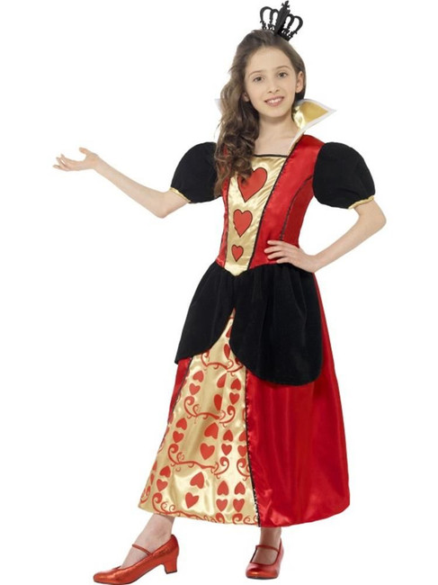 Miss Hearts Costume, Medium Age 7-9, Queen of Hearts Fancy Dress, Girls
