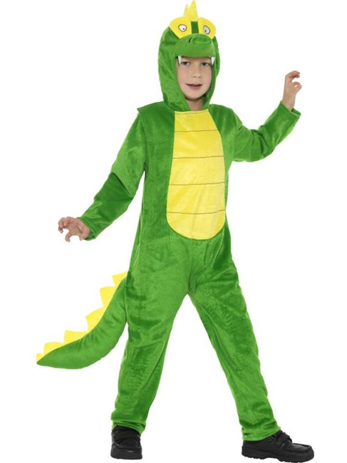 Deluxe Crocodile Costume, Children's Animal Fancy Dress. Medium Age 7-9