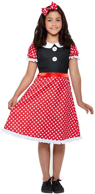 Cute Mouse Costume, Girls Fancy Dress, Medium Age 7-9