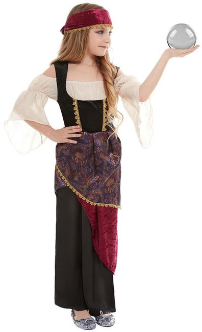 Deluxe Fortune Teller Costume, Girls Fancy Dress, Small Age 4-6