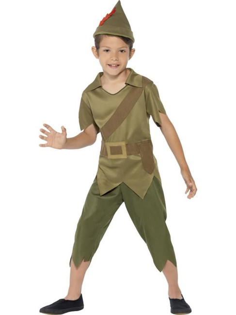 Robin Hood Costume, Large Age 10-12, Historical Fancy Dress, Boys