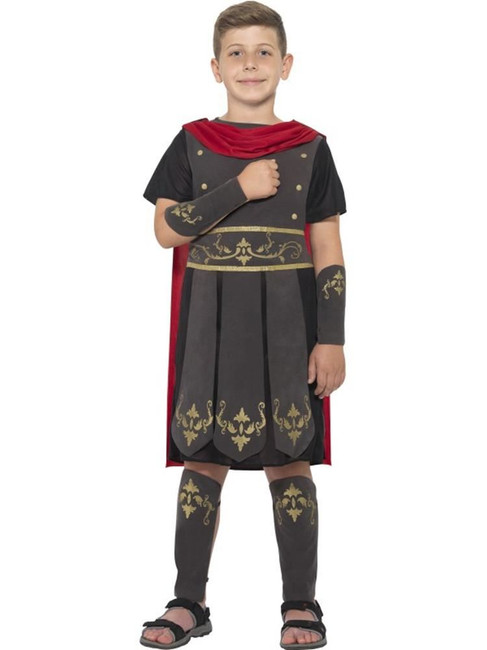 Roman Soldier Costume, Medium Age 7-9, Historical Fancy Dress, Boys