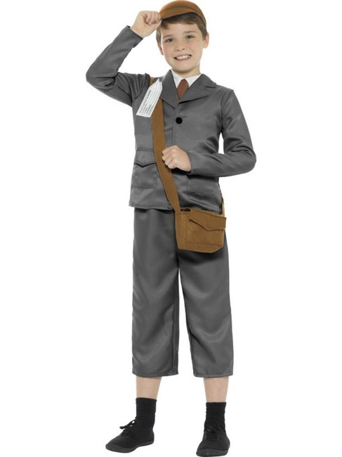 WW2 Evacuee Boy Costume, Jacket,Trousers,Boys Fancy Dress,Large Age 10-12
