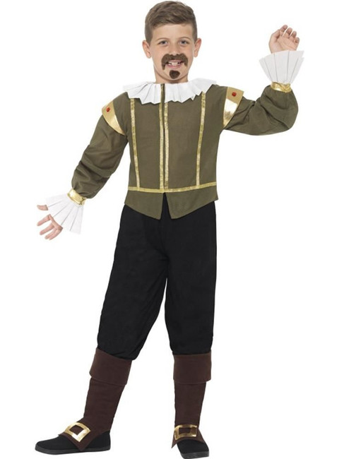 Shakespeare Costume, Large Age 10-12, Historical Fancy Dress, Boys