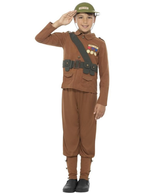 Horrible Histories Soldier Costume, Licensed Fancy Dress,Small Age 4-6