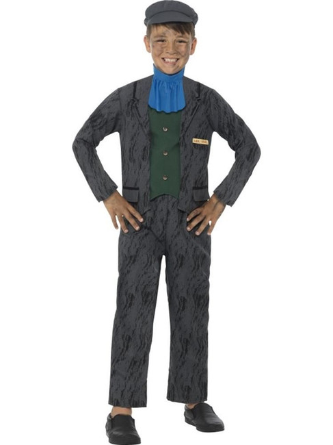Horrible Histories Miner Costume, Licensed Fancy Dress,Small Age 4-6
