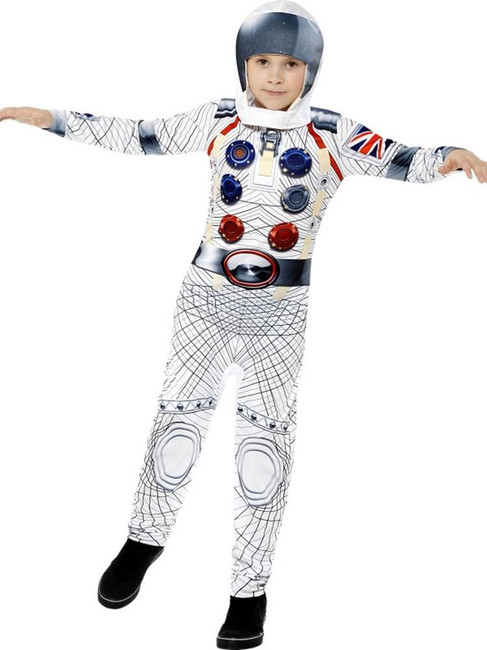Deluxe Spaceman Costume, Large Age 10-12, Fancy Dress Costumes, Boys