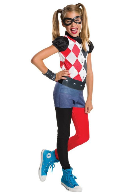 Harley Quinn Costume, Fancy Dress, Small, US Size, Childrens