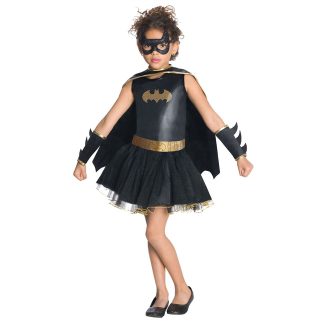 Batgirl Costume, Fancy Dress, Small, US Size, Childrens