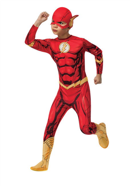 The Flash Costume, Fancy Dress, Small, US Size, Childrens